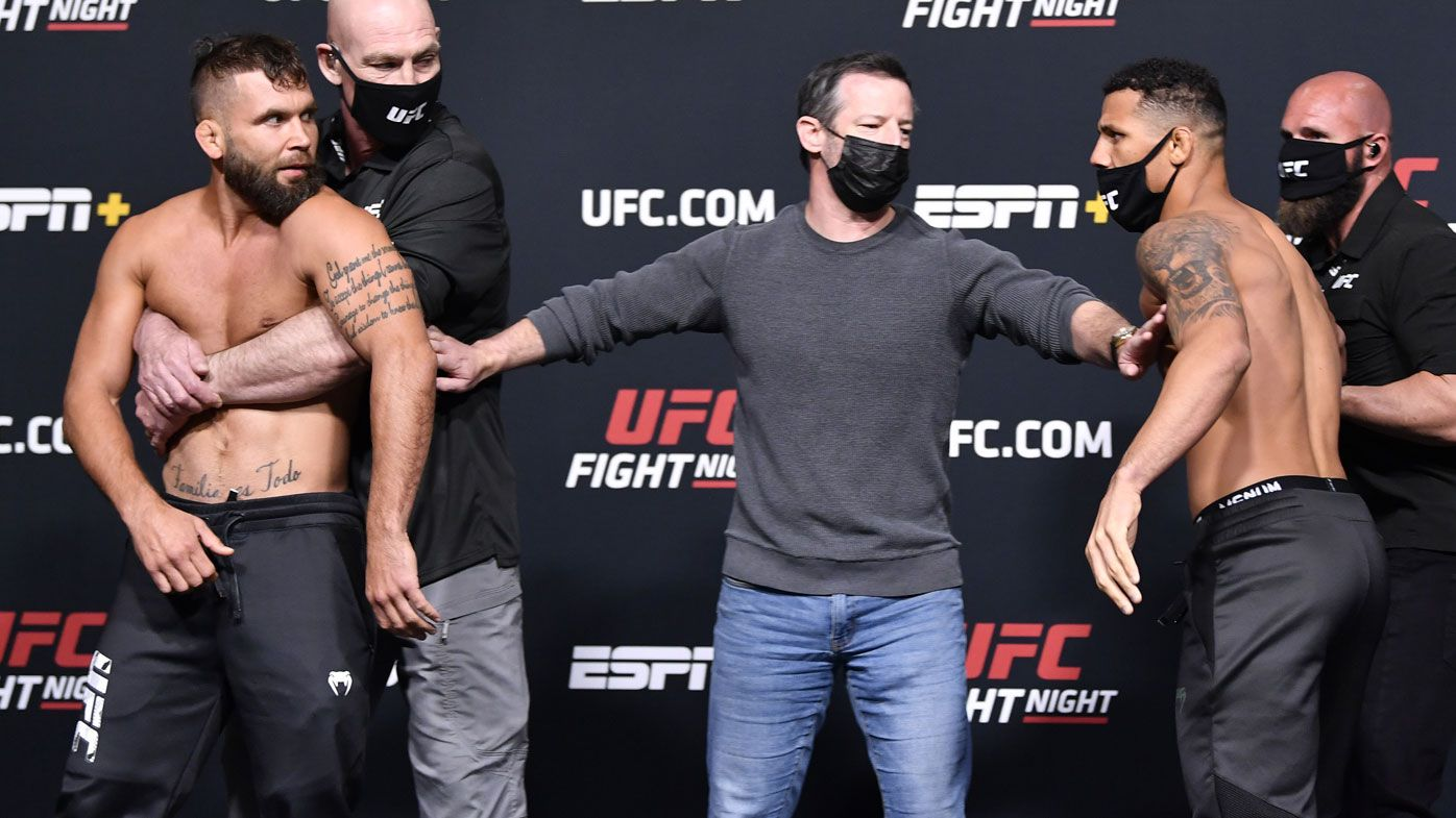 'For a push?': Weigh-in clash causes UFC grudge match cancellation