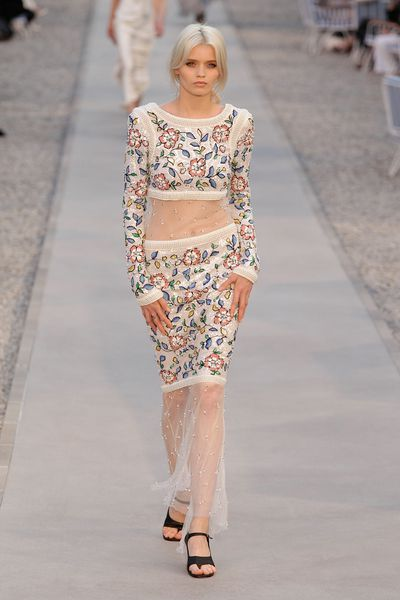 Abbey Lee Kershaw walks the runway during the Chanel 'Collection Croisiere Show 2011/12' at Hotel du Cap on May 9, 2011 in Cap d'Antibes, France.