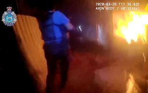 Dramatic bodycam vision of child rescued from house fire