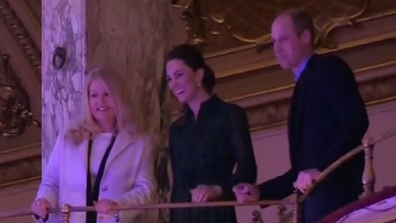 Prince William and Kate Middleton at Wembley event