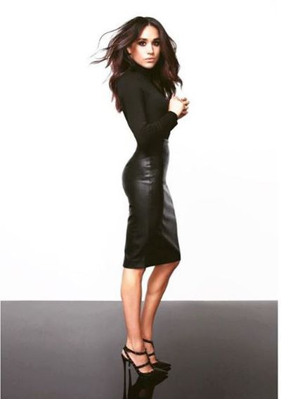 Meghan Markle in her capsule collection for US retailer Reitmans.