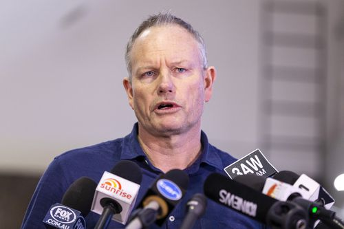 Basketball Australia chairman Ned Coten has lauded the professionalism of the national team during and after the incident. Picture: AAP.