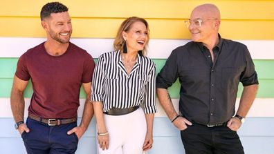 Here come The Block judges! Darren Palmer, Shaynna Blaze and Neale Whitaker