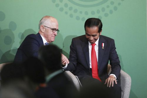 Mr Widodo and former prime minister Malcolm Turnbull formed a strong friendship during his term.