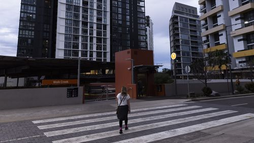 The Sydney suburb of Wolli Creek which is under curfew.