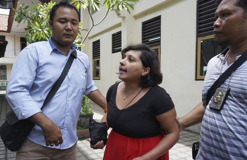 Auj-e Taqaddas accused Indonesian officials of being corrupt as she was jailed for six months yesterday.