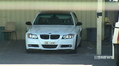 The stolen BMW was taken to a police yard for forensic testing.