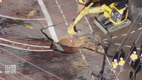 Residents in Adelaide woke to a giant sink hole.
