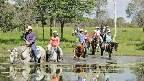 A horseback riding tour of North Queensland