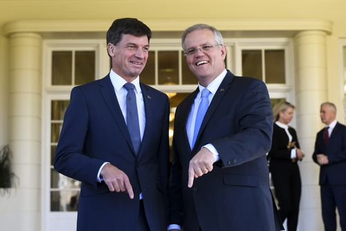"""Prime Minister Scott Morrison has dubbed Angus Taylor the """"Minister for lowering power prices""""."""