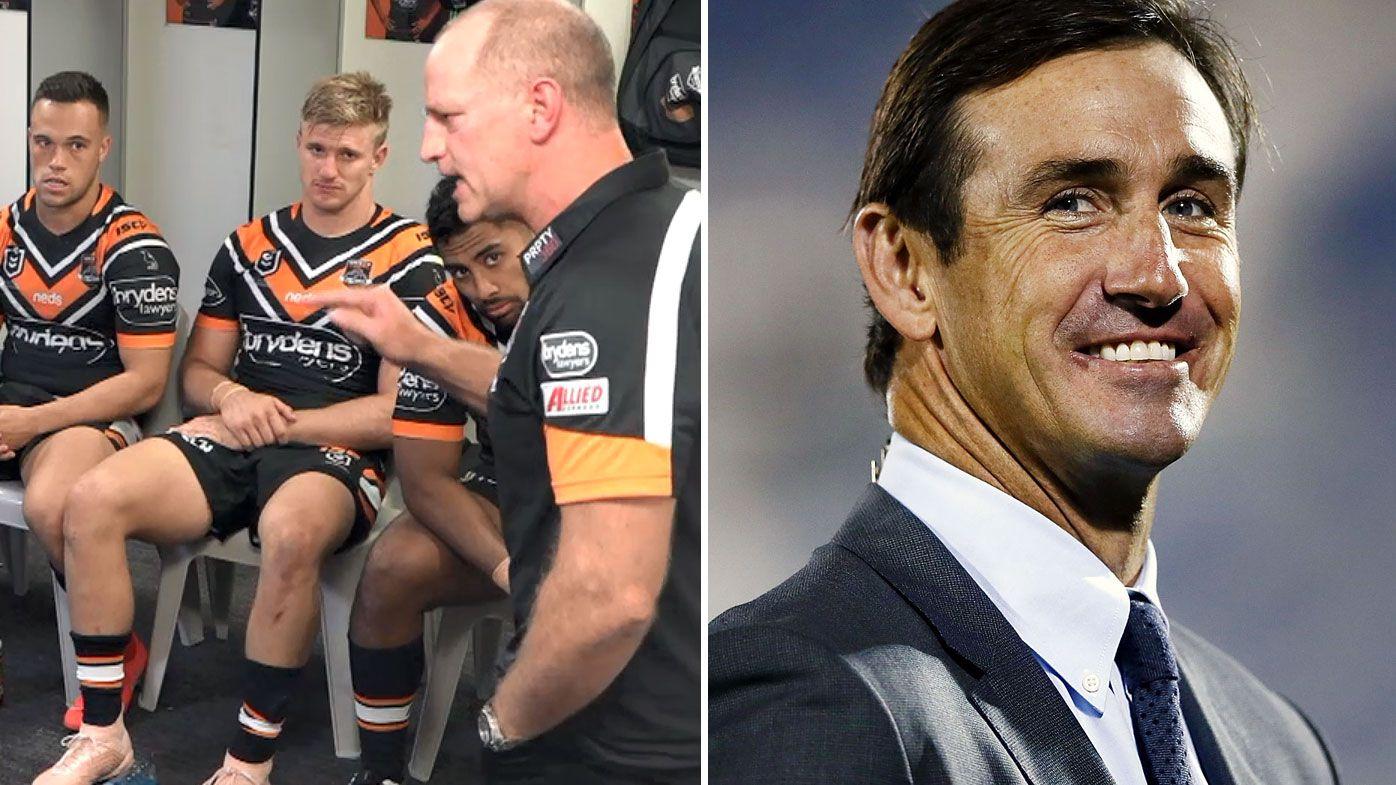 'No one listens': Andrew Johns weighs-in after Michael Maguire's infamous Tigers spray