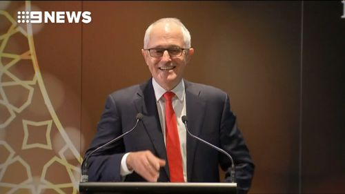 Mr Turnbull at the Eid event today. (9NEWS)