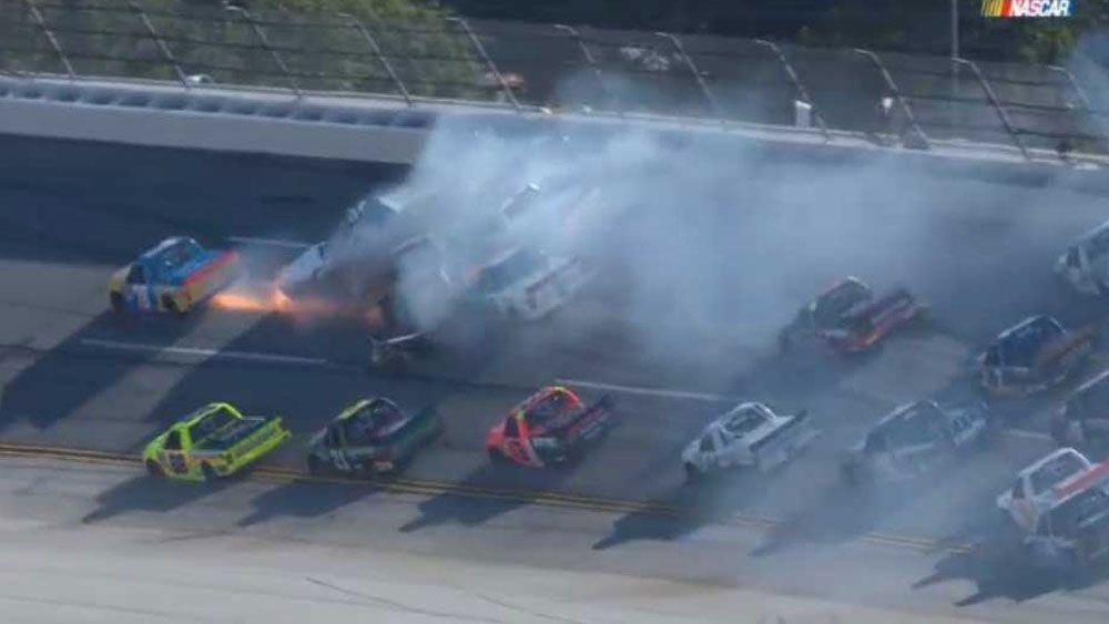 NASCAR truck crash leaves trail of mayhem