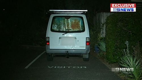 The woman tried to jump from the P-platers van in an effort to escape him. (9NEWS)
