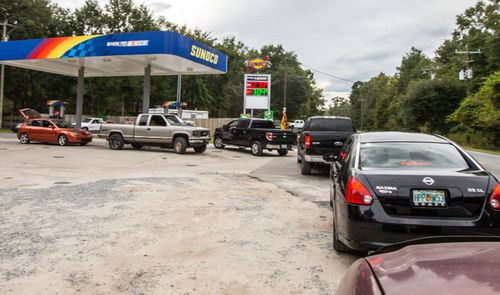 Florida residents stock up on fuel ahead of the arrival of Hurricane Michael.