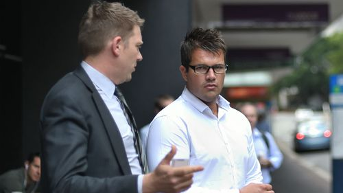 Gable Tostee and his lawyer, Nick Dore. (AAP)