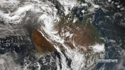 The cyclone is expected to impact east Pilbara or the far west Kimberley Coast tomorrow or early Saturday. (9NEWS)