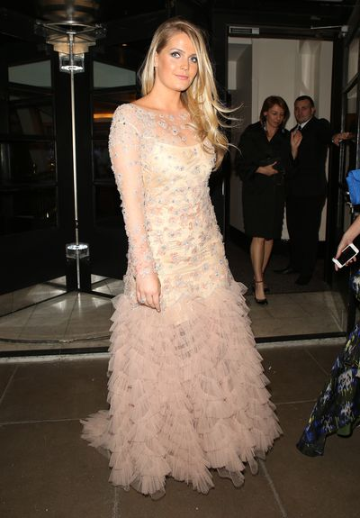 Kitty Spencer wearing Jenni Button at the Centerpoint Downton Abbey Charity Ball in London, April, 2015