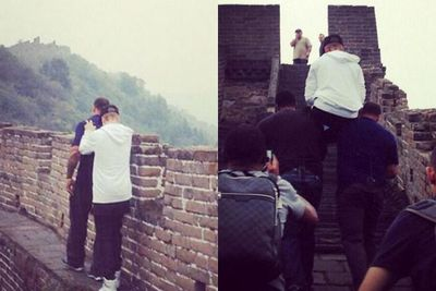 Thought you'd get the chance to enjoy The Great Wall of China trek? Think again. <br/><br/>Unless your idea of a good time involves carrying Bieber-type baggage on your shoulders the whole way up. <br/><br/>Source: Instagram