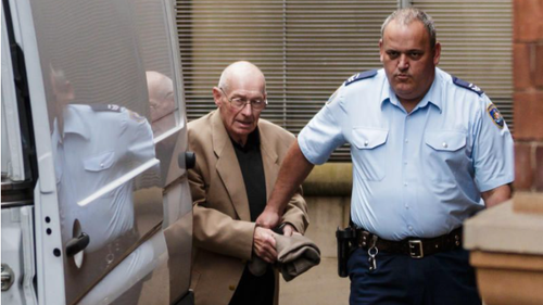 Roger Rogerson at the Supreme Court of Australia following his arrest in 2014. (Brook Mitchell/Fairfax Media)