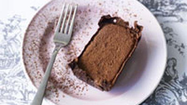 Frozen chocolate tiramisu bars
