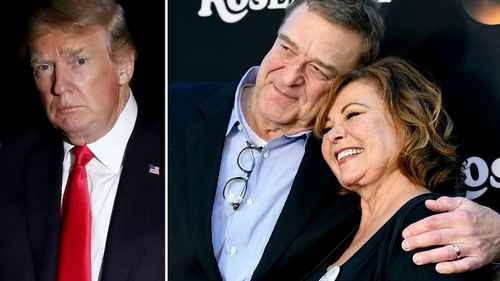 Barr's character in the Roseanne show came out as a Trump supporter.