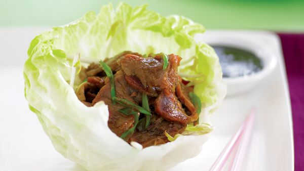Barbeque pork cups