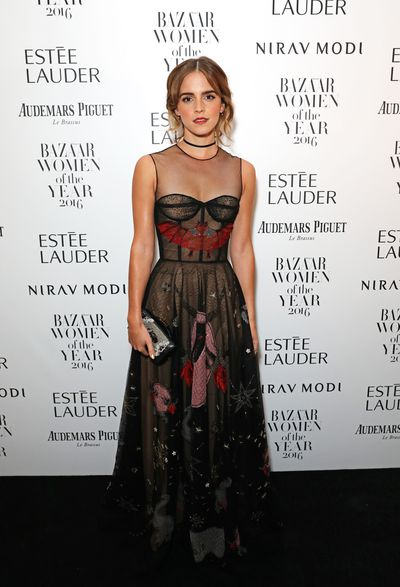 Emma Watson at The <em>Harper's Bazaar</em> Women Of The Year Awards on October 31, 2016.