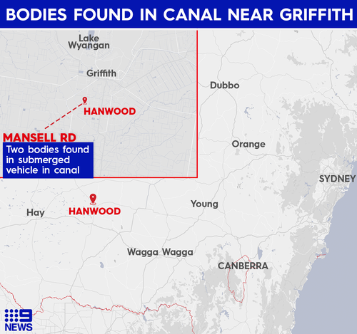 The bodies were located in Hanwood, south of Griffith.