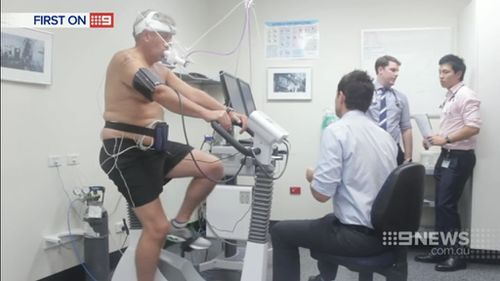 Mr Winwood has 30 percent lung function. (9NEWS)