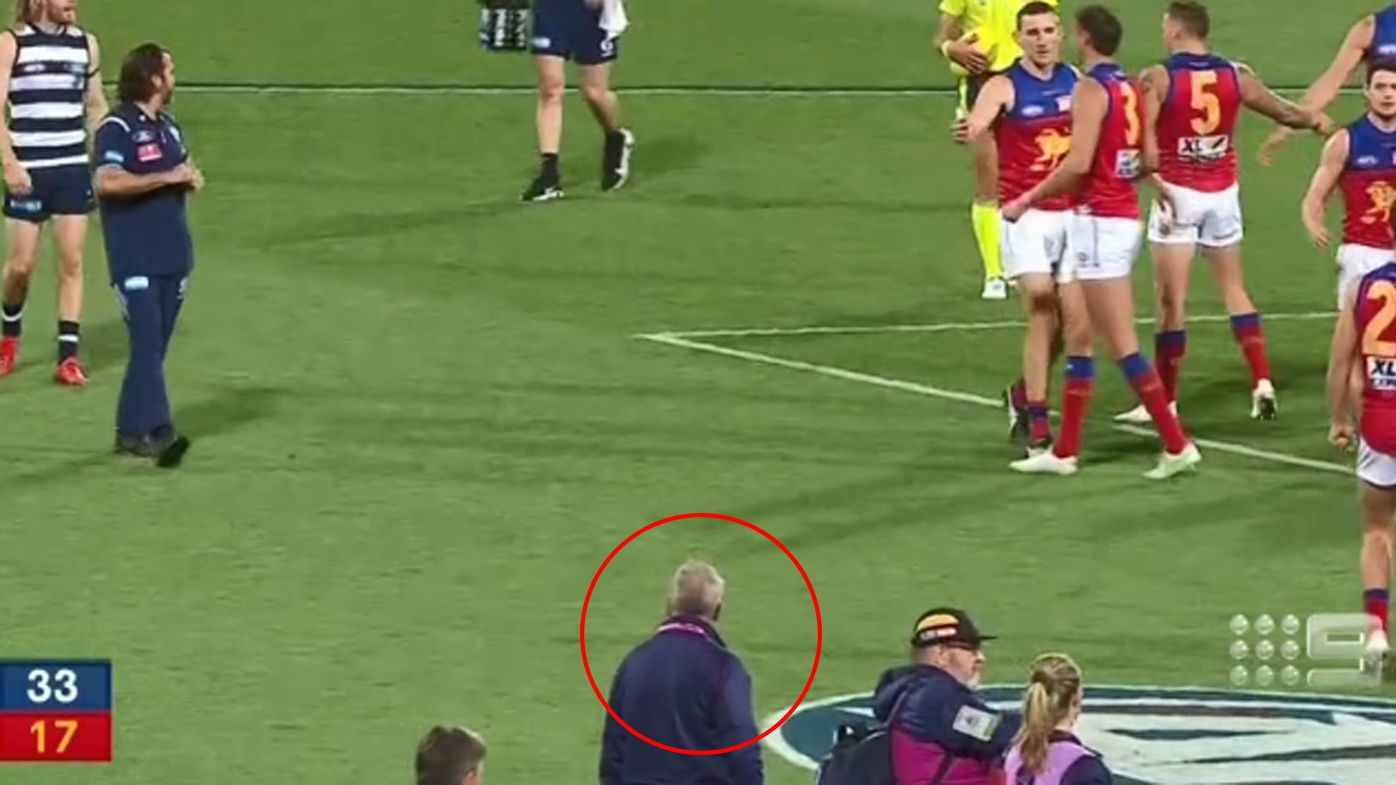 Furious exchange between Chris Scott and Chris Fagan sparked by 'filthy look'