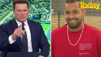 Karl Stefanovic is back in Nick Kyrgios' 'good books'