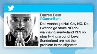 Soccer star Darren Bent was fined in 2009 by Tottenham after his outburst directed at chairman Daniel Levy.