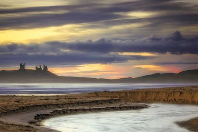 Dunstanburgh Castle in Fortification, England