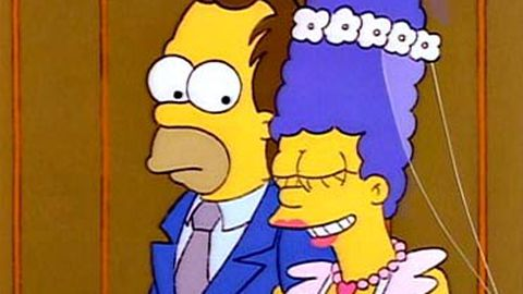 Simpsons replicas banned from wedding