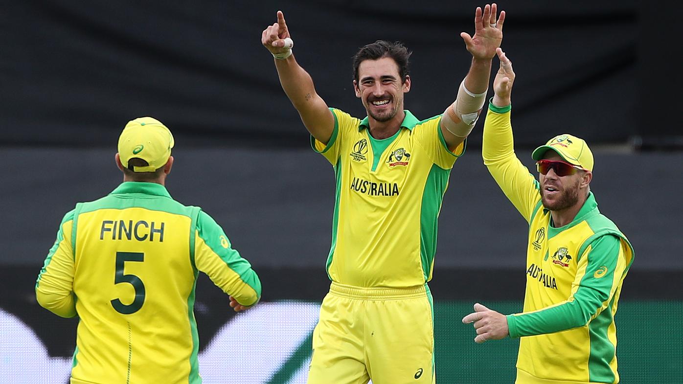 Aaron Finch, Mitchell Starc send Australia top of World Cup standings