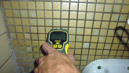 Moisture readings showed extremely high damp levels.