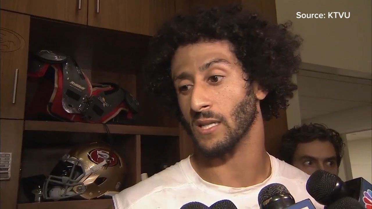 Kaepernick explains why he won't stand during national anthem