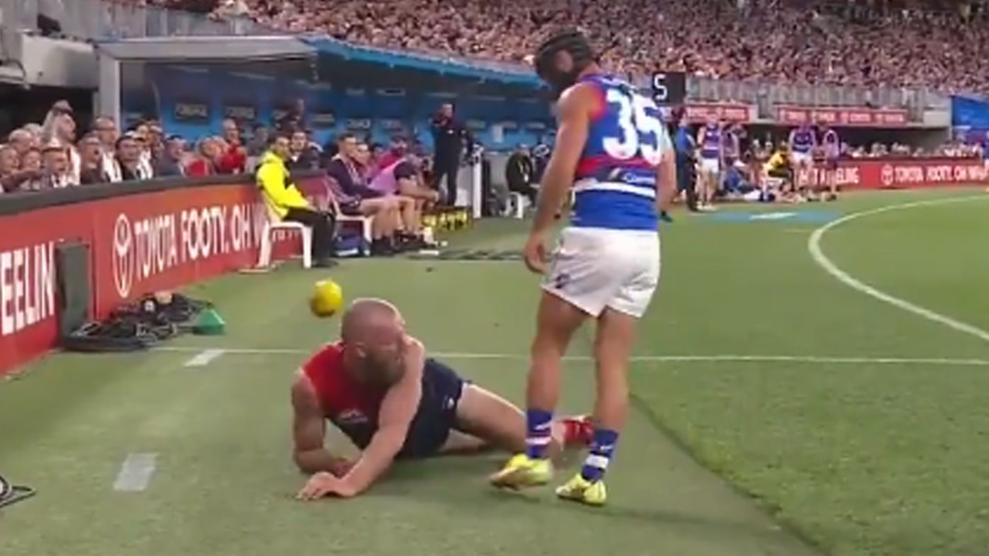 'Gawny come on': Demons star Christian Petracca stunned by 'Ali' moment between Max Gawn and Caleb Daniel