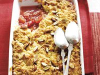 Quince and rhubarb cobbler