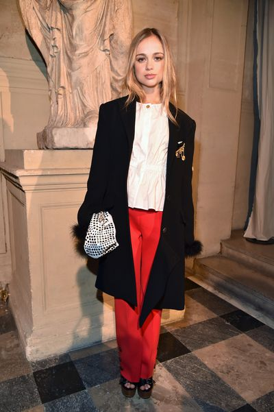 Amelia Windsor in Sonia Rykiel at the Sonia Rykiel show as part of the Paris Fashion Week, March, 2017