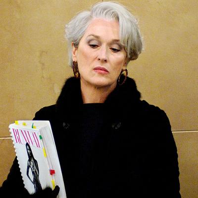 Meryl Streep as Miranda Priestly: Then