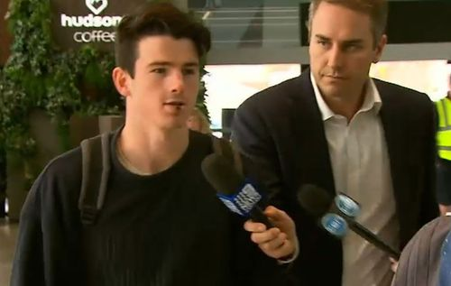 """Andrew Brayshaw says he's """"already forgiven"""" Andrew Gaff. Picture: 9NEWS"""