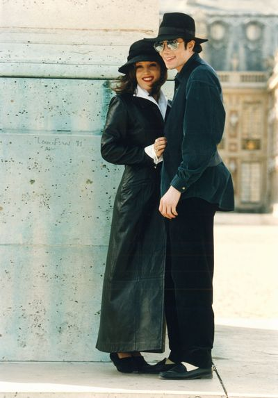 Michael Jackson with Lisa Marie Presley in Versailles, France, January 1994