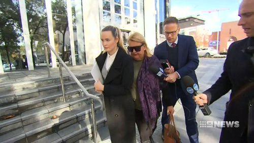 She refused to speak to reporters outside court. Picture: 9NEWS