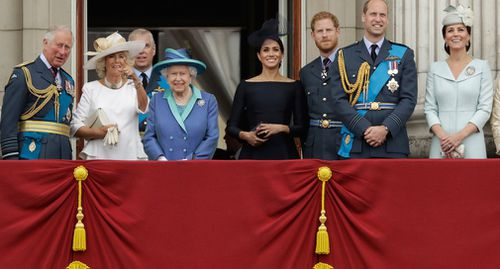 The Queen was joined by members of the royal family. Picture: AAP