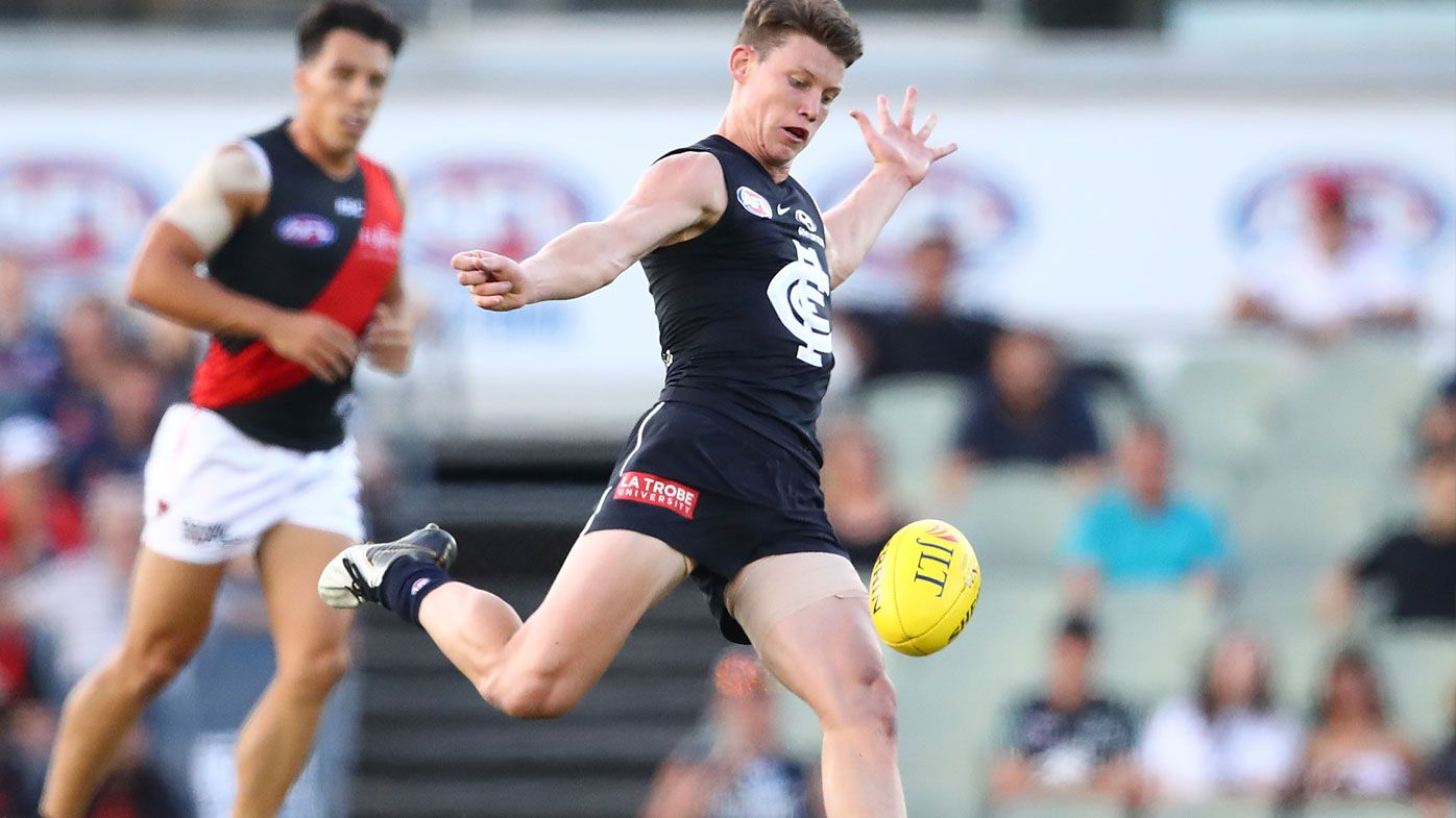 JLT Cup: No.1 draft pick Sam Walsh causes hysteria in Blues' tight win over Bombers