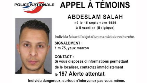 French police issue a warrant for the arrest of Salah Abdeslam.