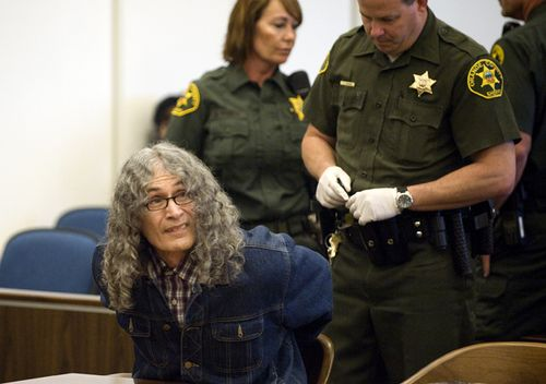 Serial killer Rodney Alcala appears in a California courtroom in 2010. Alcala was sentenced to death for killing four women and a girl in the 1970s.