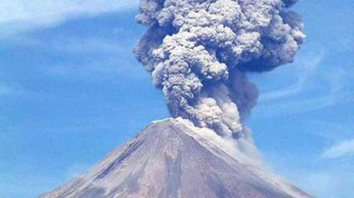The volcano, whose name means fire in English, spewed large columns of ash, prompting an orange alert and forcing Guatemala City's La Aurora airport to close. (Supplied/ElGuapo)